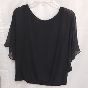 Style & Co Evening Blouse Glittery Black